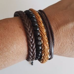 Jewelry - Multi-layered Handmade Wristband Leather Bracelet